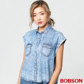 BOBSON 女款天絲棉小連袖襯衫(27121-53)
