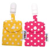 Puku 藍色企鵝 平安符保護袋 (2入)-粉色/黃色【佳兒園婦幼館】