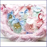 獨家【「精巧單包裝」玫瑰糖霜餅X50份+大提籃X1個】-婚禮小物/生日分享/candybar/情人節活動