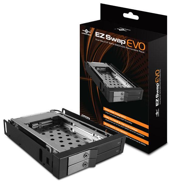 [NOVA成功3C]凡達克 VANTEC (MRK-225S6-BK) 雙槽 2.5吋 SATA SSD/ HDD 硬碟抽取盒  喔!看呢來