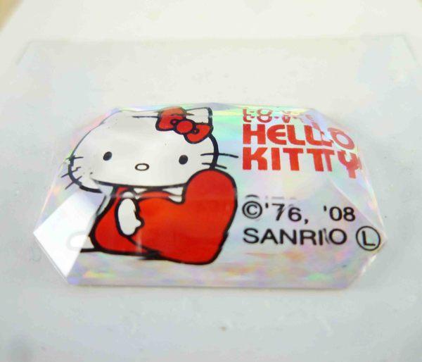 【震撼精品百貨】Hello Kitty 凱蒂貓~KITTY立體小貼紙-方心