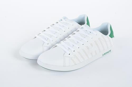 LACOSTE 男鞋 白綠色 / 皮質 -GRADUATE 318 1- 鞋款 ( 36SPM0021-082) 18C