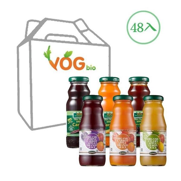 【南紡購物中心】VOG農家瑞100%有機天然綜合蔬果汁 - 48入