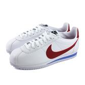 NIKE CLASSIC CORTEZ LEATHER 運動鞋 白/紅 女鞋 807471-103 no006