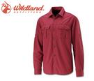 丹大戶外用品 荒野【Wildland】男可調節抗UV長袖襯衫 0A11202-07 酒紅色