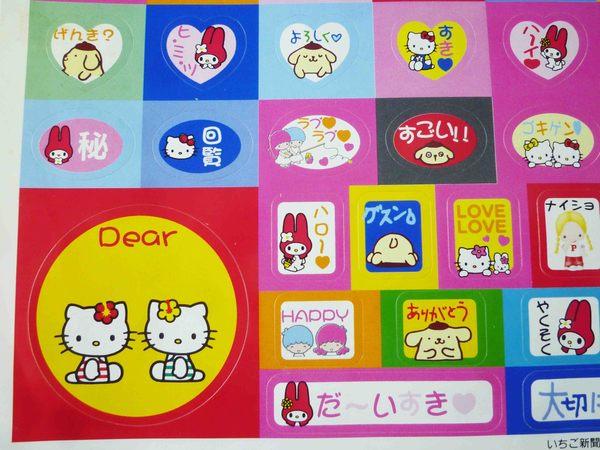 【震撼精品百貨】Hello Kitty 凱蒂貓~貼紙-側坐