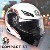[安信騎士] 義大利 AGV Compact ST 彩繪 Vermont 白黑 可樂 汽水 安全帽 插扣 內墨片