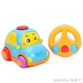 遙控車充電動小汽車玩具寶寶音樂聲光嬰幼兒卡通男女孩兒童1-3歲 麻吉好貨