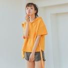 夏季2021薄款短袖衛衣女連帽韓版學生寬鬆百搭小清新半袖T恤 快速出貨
