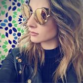 FENDI 廣告主打 水銀鏡面 太陽眼鏡 (金色)FF0177S