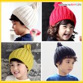 帽子寶寶五色針織毛線尖頂螺旋護耳帽套頭帽