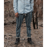 ONETEASPOON COWBOY STRIPE SHABBIES DRAWSTRING 牛仔褲-直條紋(男)