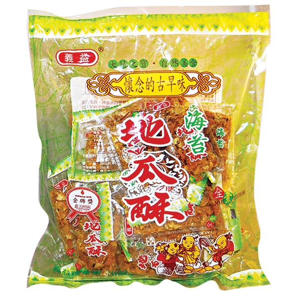 義益地瓜酥-海苔口味300g【合迷雅好物超級商城】