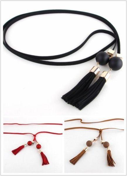 來福妹腰帶,H659腰繩.珠珠流蘇皮繩造型百變綁式腰繩細腰鏈皮帶腰帶,售價190元