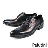 【Pelutini】頂級雕花德比紳士鞋 藍色(6380-BU)