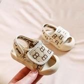 夏季男寶寶涼鞋學步鞋春夏嬰兒鞋子1-3歲兒童包頭軟底防滑小童女2 快速出貨