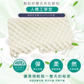 I-JIA Bedding-斯里蘭卡工學護頸防蹣抗菌天然乳膠枕-1入顆粒工學乳膠枕
