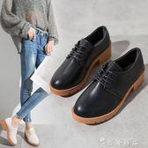 粗跟小皮鞋女復古百搭網紅單鞋春夏季新款森系英倫女鞋子  時尚潮流