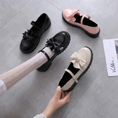 娃娃鞋 日系洛麗塔lolita厚底女鞋可愛蝴蝶結圓頭原宿平底軟妹皮鞋 - 雙十二交換禮物