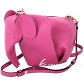 LOEWE Elephant 大象造型小牛皮迷你手拿/斜背包(桃紅色) 1740365-41