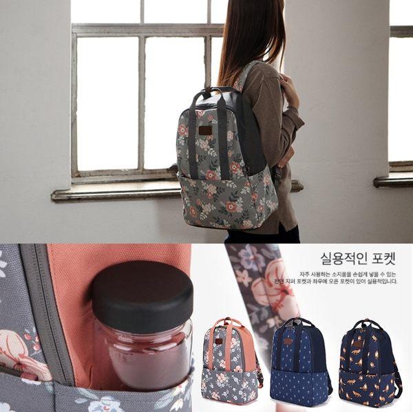 韓國官網同款 火鶴 火烈鳥 田園風 後背包 單肩包 手機包 出國 旅行 可放筆電 A4紙【RB488】
