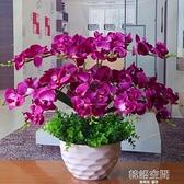 包郵蝴蝶蘭花藝盆栽仿真干花套裝飾假花絹花客廳餐桌擺設擺放花卉