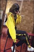 衛衣運動套裝女秋新款兩件套潮牌側邊織帶東川崎町