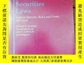 二手書博民逛書店Federal罕見Securities Laws Selecte
