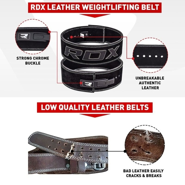 RDX065【線上體育】RDX 舉重腰帶 專業快扣 黑 皮革