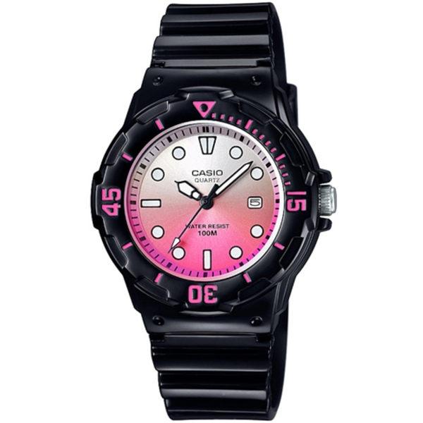 CASIO 魅力潛水風格型女腕錶(白桃紅漸層)_LRW-200H-4E