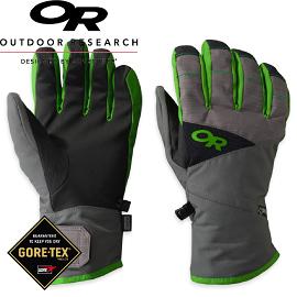 【Outdoor Research 美國 男 防水透氣保暖手套 灰/綠 GORE-TEX】76125/GORE-TEX /防水手套