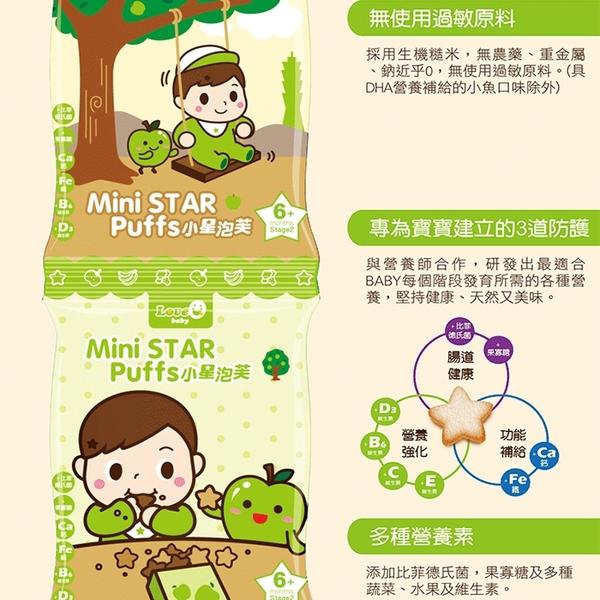 米大師小星泡芙 寶寶副食品 嬰兒米餅 蘋果/香蕉/藍莓/小魚 6051