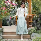 中式女裝套裝復古盤扣上衣女中國風