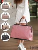 韓版手提旅行包女行李包大容量短途旅行袋健身包男旅游包行李袋潮  極有家