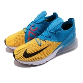 【六折特賣】Nike 慢跑鞋 Air Max 270 Flyknit 黃 藍 大氣墊 運動鞋 男鞋 【PUMP306】 AO1023-800