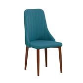 泰坦藍色皮餐椅(20JS1/910-16)/H&D東稻家居