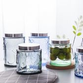 玻璃瓶子密封罐透明食品儲物罐大號糖罐家用帶蓋咖啡豆儲存罐萬聖節,7折起