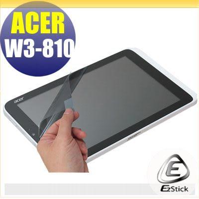 【EZstick】ACER ICONIA W3 W3-810 專用 靜電式平板LCD液晶螢幕貼 (可選鏡面防汙及高清霧面)