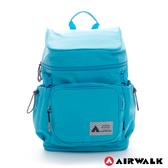 Backbager 背包族【美國 AIRWALK】火鍋蓋旅行後背包(藍)