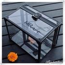 家用收納小號便攜式透明化妝箱手提多層專業美甲壓克力紋繡工具箱 黛尼時尚精品