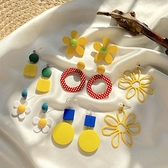 耳環女新款潮復古誇張網紅花朵耳釘東大門可愛氣質銀針耳飾品 育心館