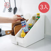 【日本霜山】斜取式廚櫃隙縫多功能收納盒(附輪)-3入