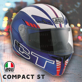 [中壢安信] 義大利 AGV Compact ST 彩繪 SEATTLE 消藍白紅 可樂 汽水 安全帽 插扣 內墨片