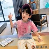 男童短袖T恤夏裝兒童半袖體恤純棉夏季【淘夢屋】