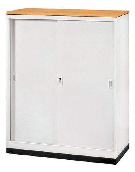 【 IS空間美學】3尺鐵拉門隔間櫃-木紋款