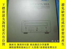 二手書博民逛書店HP罕見5347A 48A Microwave Counter
