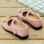 兒童皮鞋女公主鞋寶寶女孩小學生演出鞋小皮鞋女童鞋 七色堇