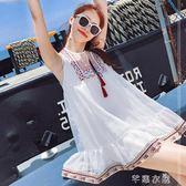 孕婦裝夏裝上衣時尚新款寬鬆韓版雪紡洋裝夏中長款裙子夏季      芊惠衣屋