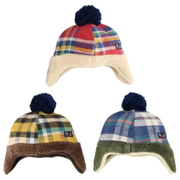 日本 stample 格紋刷毛遮耳帽(黃色/藍色/紅色)-100%日本製~2016秋冬新品