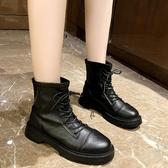 短靴馬丁靴女英倫風厚底增高秋季新款瘦瘦短靴百搭春秋單靴ins潮 【雙11特惠】